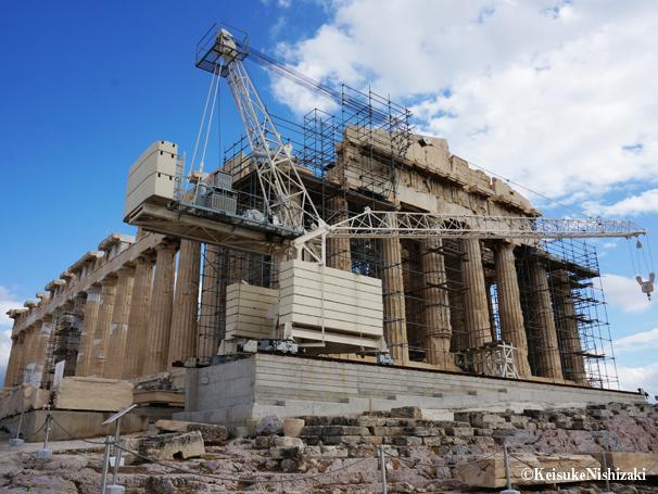 パルテノン神殿、ただいま改修中